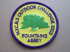 NYCBS Outdoor Challenge Fountains Abbey Walking Hiking Cloth Patch Badge (L2K)