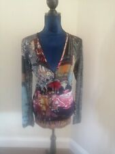 SAVE THE QUEEN multi Pattern Top Size M 10 12 Brooch Rock Punk
