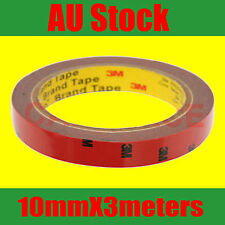 3M Double Face Sided Tape 10mm X 3Meters for LED lights automotive trim bumper