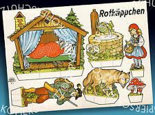 Moravec cuentos de hadas ausschneidebogen nº 6 | 50er > caperucita roja top estado desplazarse