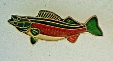 AR18*)  Enamel fishing angling fish trout salmon carp badge pin