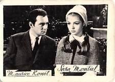 B70825 Maurice Ronet and Sara Montiel actors acteurs 5x3cm