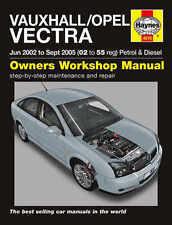 VAUXHALL Vectra Riparazione Manuale Haynes WORKSHOP MANUALE DI SERVIZIO 2002-2005 4618