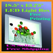 "A3 Led Slim Aluminum Frame Light Box 18.5""x13.75"" Free Printing Lightbox Display"