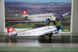 Herpa 1:160 JU-Air Junkers JU-52 HB-HOT (019286) Die-Cast Model Plane