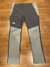 The North Face Men's Impendor Soft Shell Climber Pants Size 36 Reg Gray