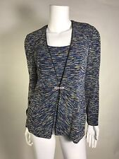 NWT Alex Evenings Woman 2 PC Set Tank And Jacket SZ S $ 139 Fresh Multicolor