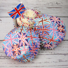 Patchwork Union Jack Cupcake Cases, Pack of 50