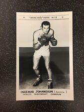 RARE ORIGINAL INGEMAR JOHANSSON - No 73 - BOXING NEWS PHOTOS SERIES POSTCARD
