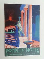 Cartolina Pompei di Notte Ente provinciale Turismo Napoli Illustrata