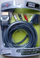 PLAY ON A/V-Kabel für Xbox 360S RGB SCART-Anschluss/S-Video/Audio (2m) gold OVP!