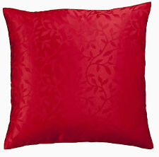 16 Inch ( 42cm ) cushion covers Polyester self coloured jaquard, leaf 6 colours.