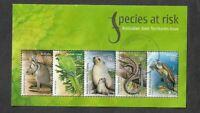 Australia postally used min sheet-Species at Risk 2009