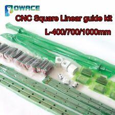 20mm Square Linear Guide Rail L400/700/1000mm+SFU1605 Ballscrew+BK/BF 12+HGH20