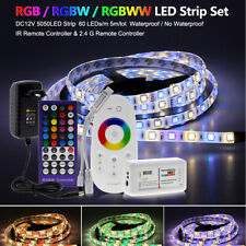 5m SMD 5050 LED Strip Light RGB RGBW Color Changeable Flexible IR Remote Power