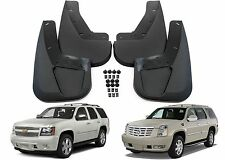 4pc Front & Rear Molded Mud Flaps For 2007-2014 Tahoe Yukon Escalade New USA