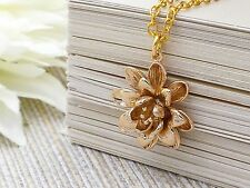 Necklace Nib Gold Lotus Pendant