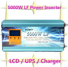 20000W/5000W LF Pure Sine Wave Power Inverter 12VDC/110VAC 60Hz LCD/UPS/Charger