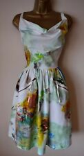 VIVIENNE WESTWOOD PUNK MONROE 38 STUNNING PAINT SPLASH WEDDING RACES DRESS £445