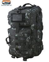 BTP Black Hex Tac Reaper Molle 40 Litre Tactical Pack Assault Bag Airsoft