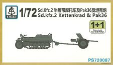 S-MODELLO 1/72 SD KFZ 2 KETTENKRAD & 37 mm Pak36 ANTI TANK GUN (2 KIT PER CONFEZIONE)