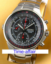 SEIKO MEN CRITERIA CHRONOGRAPH PILOT AVIATION SLIDERULE WATCH SND491 SND491P1