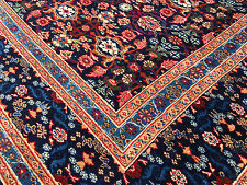 8x11 HAND KNOTTED WOVEN RUG PERSIAN IRAN WOOL MADE RUGS 8 x 11 antique blue 9 12
