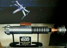 More details for luke skywalkers last jedi lightsaber with display stand-star wars-collectable