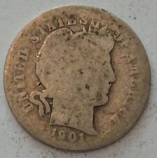 1901 Barber Dime
