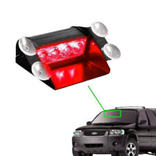 12V 4LED Car Truck Emergency Warning Flashing Strobe Windshield Dash Light Red