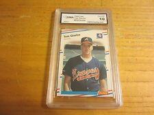Tom Glavine 1988 Fleer ROOKIE GMA 10 GEM MINT Trading Card MLB Baseball Braves