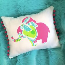 New Elephant pillow made with LILLY PULITZER PB Pink Lemonade fabric