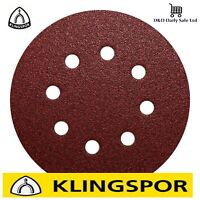 125mm 5'' Sanding Discs /8 hole pads KLINGSPOR orbital sander BOSH MAKITA DeWALT