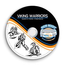 VIKING WARRIOR CLIPART IMAGES -VECTOR CLIP ART -VINYL CUTTER PLOTTER GRAPHICS CD