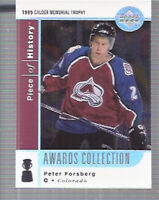 2002-03 UD Piece of History Awards Collection #AC8 Peter Forsberg - NM-MT