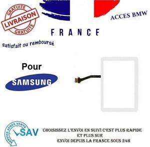 VITRE ECRAN TACTILE POUR SAMSUNG GALAXY TAB 2 10.1 GT-P5100 P5110 Blanc+ ADHESIF