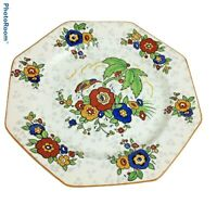 New Old Stock Crown Ducal Ware England Chintz Floral Octagon Salad Plate 8.5""