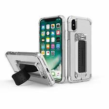 Scooch Wingman 5-in-1 Cover Case for iPhone X and iPhone Xs Clear/Black