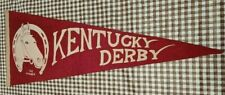 "1920/30s Kentucky Derby pennant,souvenir""The Winner""horse framed by horseshoe"