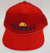 ELLESSE HAT CAP SNAPBACK VINTAGE RETRO CREW MENS HEADLINER CORDUROY TRUCKER RARE
