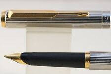 Vintage (1990) Parker 95 Silver Plated Fileté Broad Fountain Pen, GT