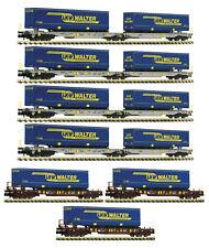 """Fleischmann N 825017 Güterwagen-Set """"LKW Walter"""" der AAE 7-teilig - NEU + OVP"""