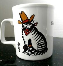 B Kliban Good Ole Cat Mug Cowboy Coffee Cup Pop Art Kiln Craft England Spurs Hat