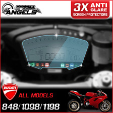 3 x Cluster Scratch Protection Film Screen Protector for DUCATI 848 1098 1198 AG