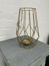 1 Of 5 H&M Home Brass Geometric Candle Lantern Holder