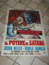 manifesto IL POTERE DI SATANA  1974 ORSON WELLES ,P.FRANKLIN ,MAGIA OCCULTISMO