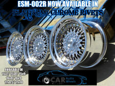 DEEP DISH ALLOY WHEELS SPLIT RIMS BBS RS STYLE CLASSIC 3 PIECE EURO GERMAN