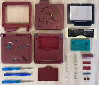 Gameboy Advance SP GBA SP Groudon Replacement Shell With Tools & New Battery!