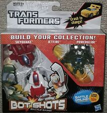 Transformers Bot Shots Skyquake Jetfire Powerglide 3-pack new sealed hasbro