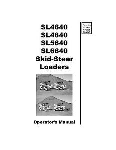 New GEHL SL4640 SL4840 SL5640 SL6640 Owners Operators Manual 917001 Paperback